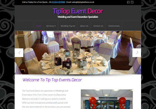Tiptopeventdeco-website