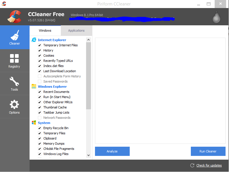 CCleaner Registry Cleaner