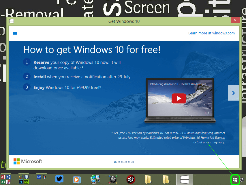 Reserve Windows 10 Today